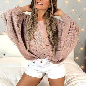 KYLIE Loose Knit Dolman Sweater - BLUSH